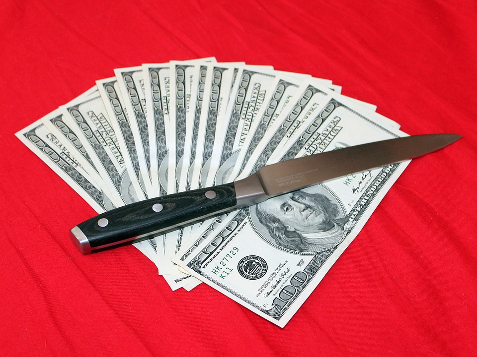 cost of sharpening a knife