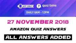 Amazon Quiz 27 November Answers Today -Win JBL Flip 4