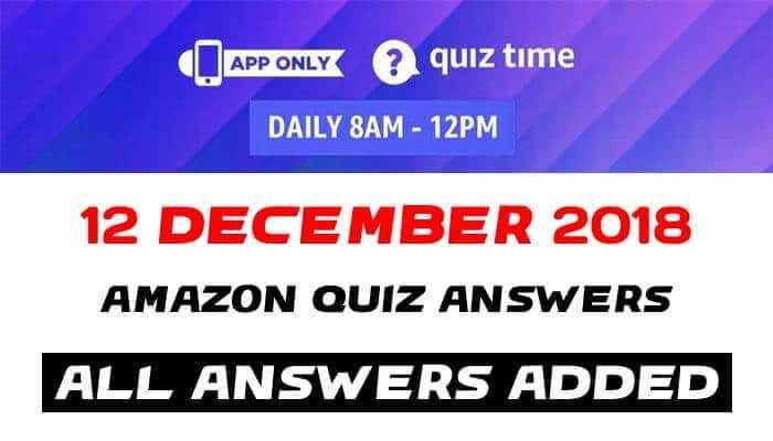Amazon Quiz 12 december 2018