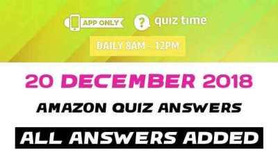 Amazon Quiz 20 december