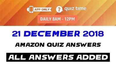 Amazon Quiz 21 december 2018