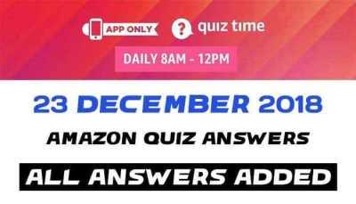 Amazon Quiz 23 december 2018