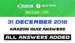 Amazon Quiz 31 December 2018