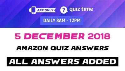 Amazon Quiz 5 december 2018
