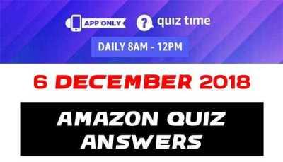 Amazon Quiz 6 december