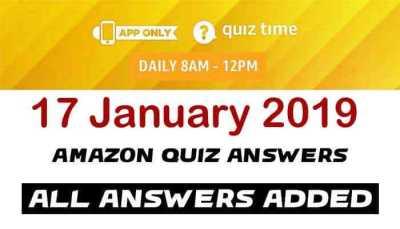 Amazon Quiz 17 January 2019
