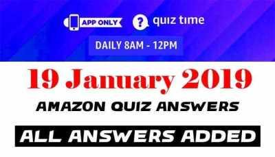 Amazon Quiz 19 january 2019