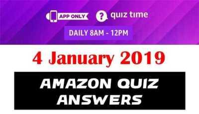 Amazon Quiz 4 January 2019