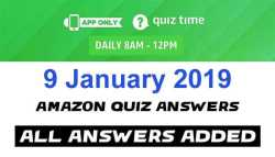 Amazon Quiz 9 January 2019