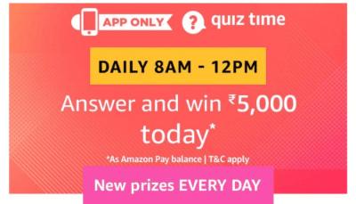 Amazon Quiz Answers 4 February 2019