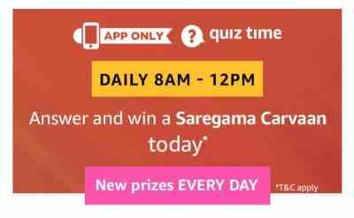 amazon quiz 9 february 2019, Saregama Carvaan