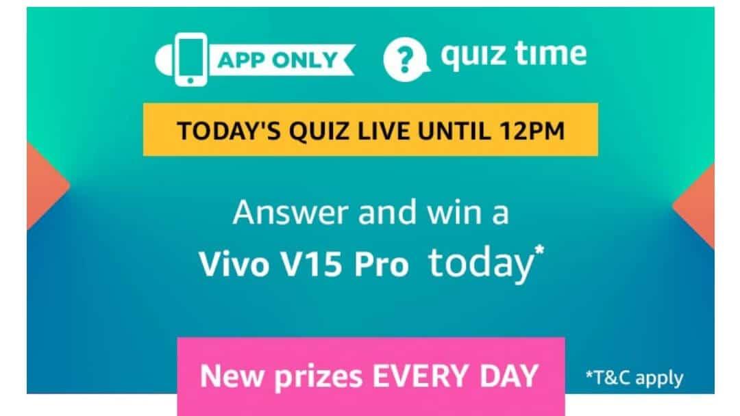 Amazon Quiz 3 April 2019 Answers - Win Vivo V15 Pro