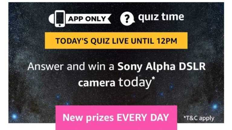 Amazon Quiz 9 July 2019 Answers - Sony DSLR Camera