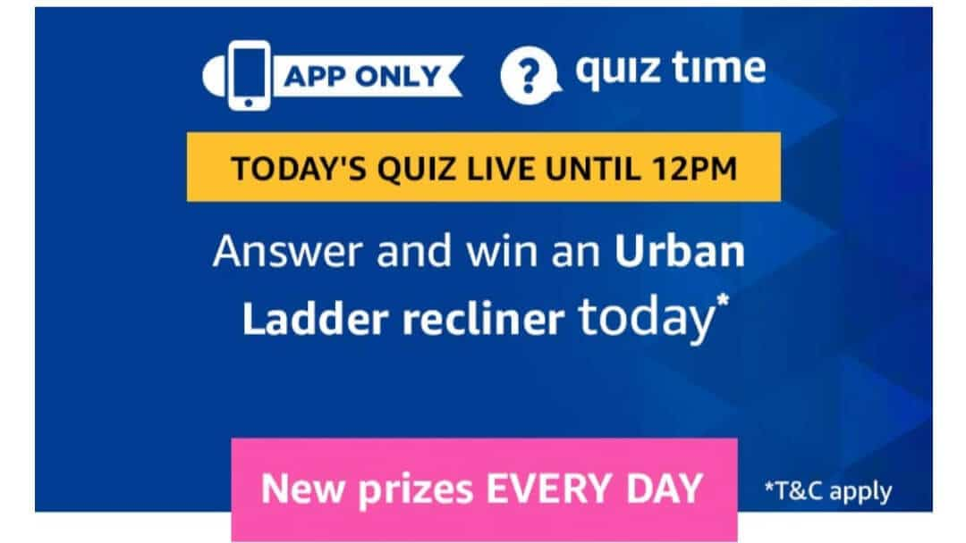 Amazon Quiz 19 May 2019 Answers - Urban Ladder Recliner