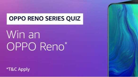 Amazon Oppo Reno Quiz Answers - Win Oppo Reno Mobile | TOPHUNT