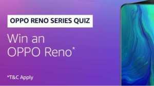 Amazon Oppo Reno Quiz Answers - Win Oppo Reno