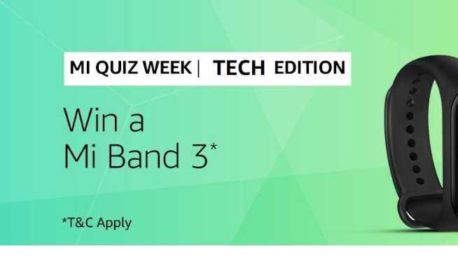 Amazon Mi Band 3 Quiz Answers - Win Mi Band 3
