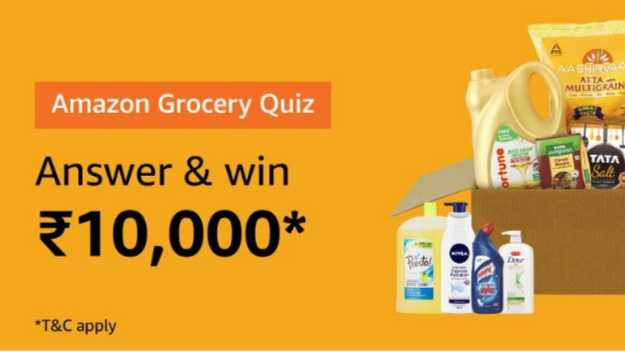 Amazon Grocery Quiz Answers Today - Win ₹10,000