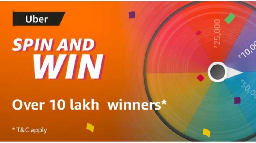 Amazon Uber Spin and Win Quiz Answers