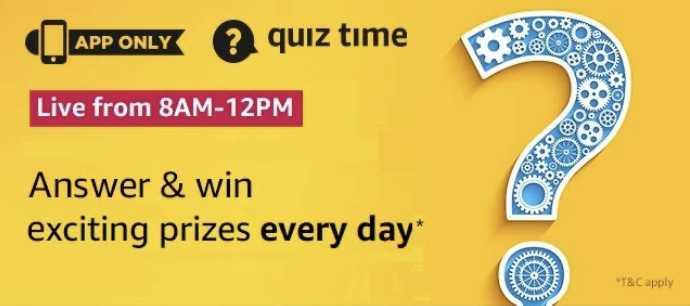 Amazon Quiz 31 march 2020