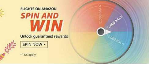 Amazon Flights Spin and Win Quiz Answer - Win Rewards