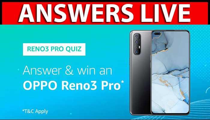 Amazon Oppo Reno3 Pro Quiz Answers Win Reno3 Pro