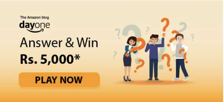 Amazon Day One Quiz Answers Win - Rs.5000