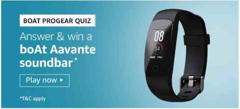 Amazon Boat Progear Quiz Answers - Win Boat Aavante Soundbar