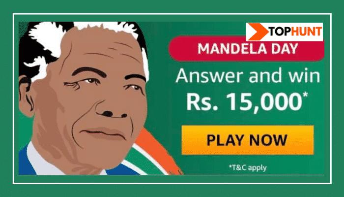 Amazon Mandela Quiz Answers Win - Rs.15000