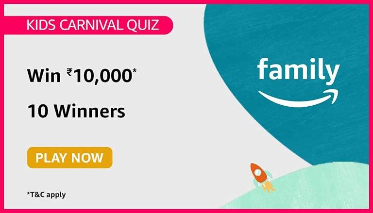 Amazon kids Carnival Quiz Answers July 2021 Win Rs.10000