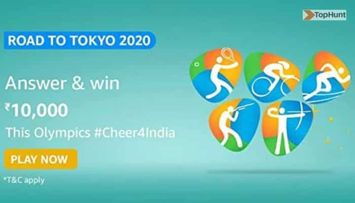Amazon Road to Tokyo Quiz Answers For Today Win ₹10,000