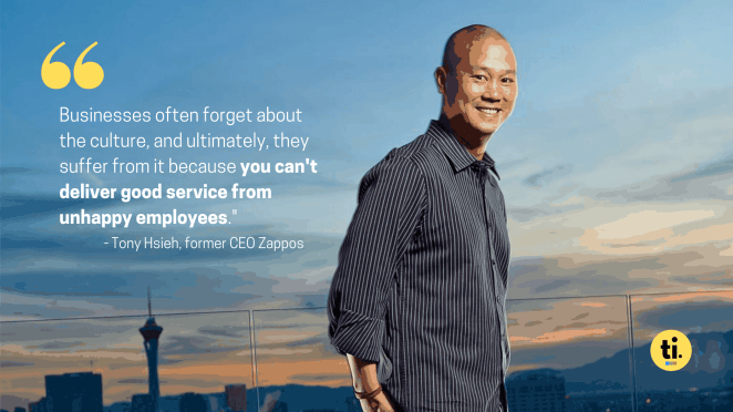 Tony Hsieh's quote on the importance of building a great company culture, one of the leadership lessons from Tony Hsieh