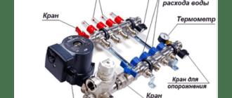 схема подключения трехходового термоклапана