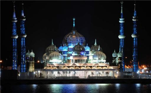 image of beautiful mosque kristal malaysia