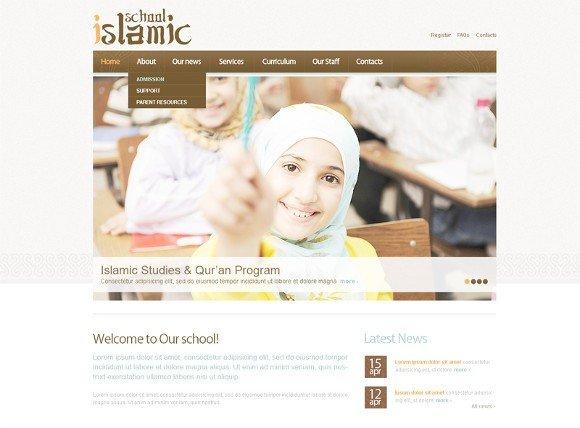 islamic school website template topislamic.com