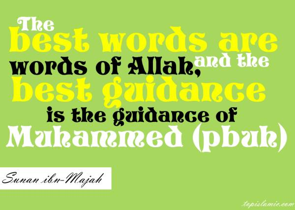 best words and guidance