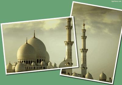 polaroid style mosque photo frame islamic wallpaper