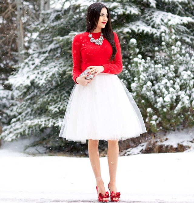 Tulle Skirt and Valentino Pumps