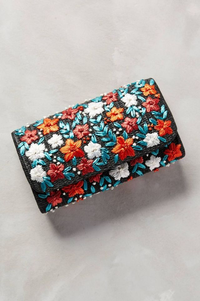 Anthropologie Efflorescent Pouch
