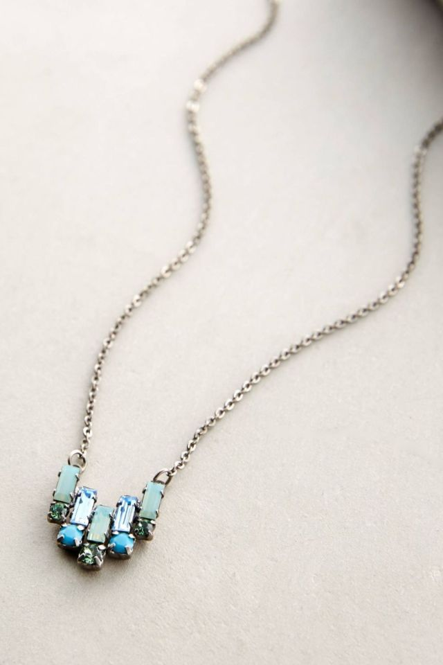 Anthropologie Deco Tilt Necklace in Sky