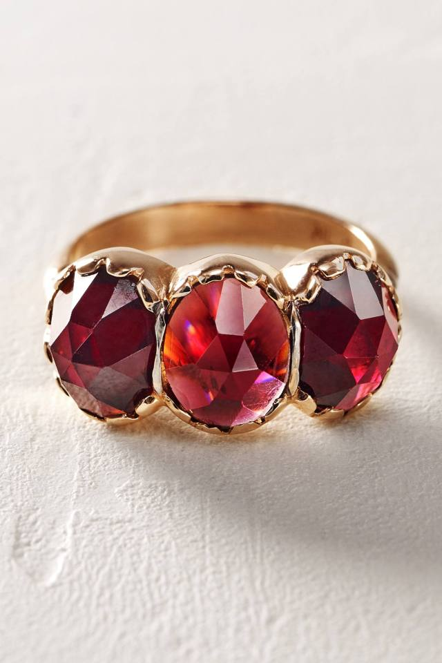Ruby Trinity Ring by Arik Kastan