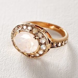 Moonstone and Labradorite Constellation Ring in 14k Rose Gold by Arik Kastan