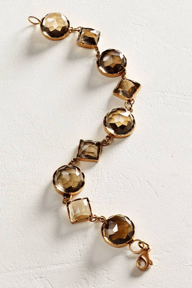 Rosecut Smoky Quartz Bracelet in 14k Rose Gold by Arik Kastan