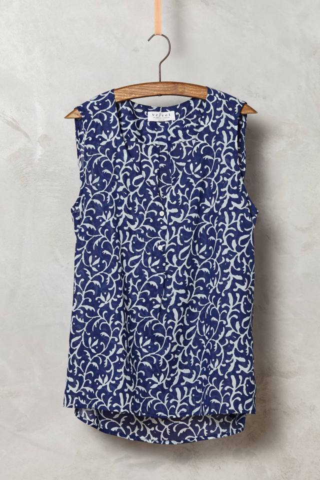 Avocet Henley Tank by Velvet by Graham and Spencer