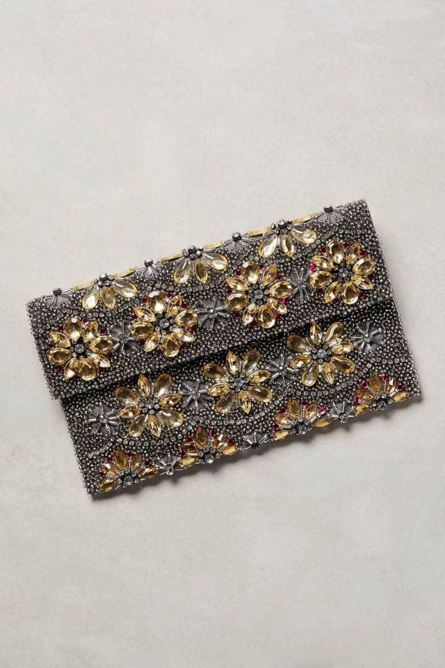 Beaded Botanic Clutch