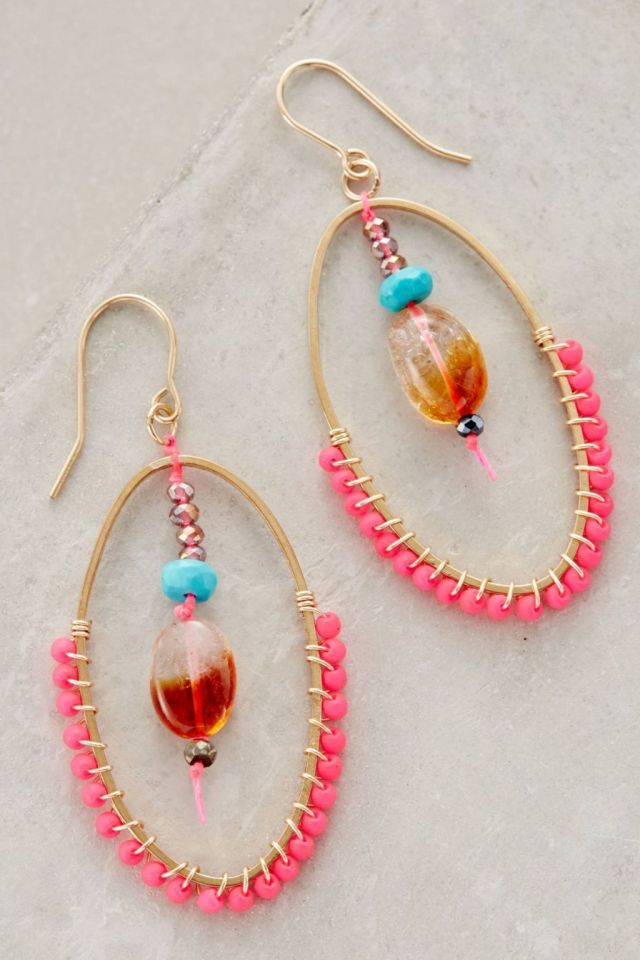Blushed Droplet Hoops by Bluma Project
