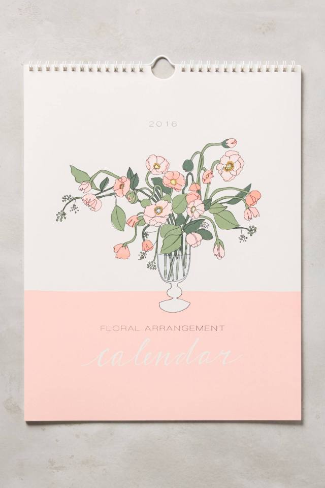 Bouquets For Days 2016 Calendar by Hartland Brooklyn