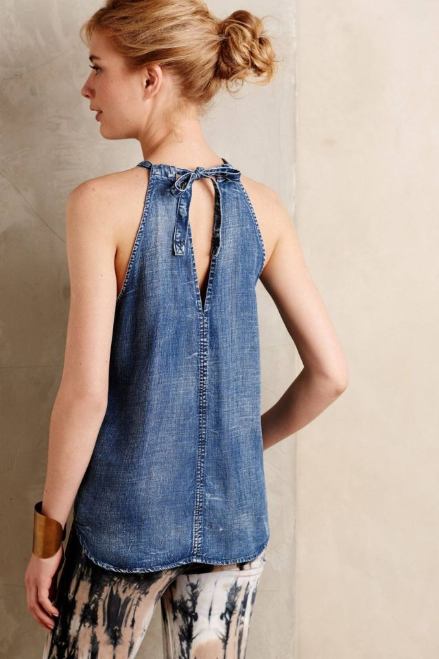 Chambray Halter Tank by Cloth & Stone