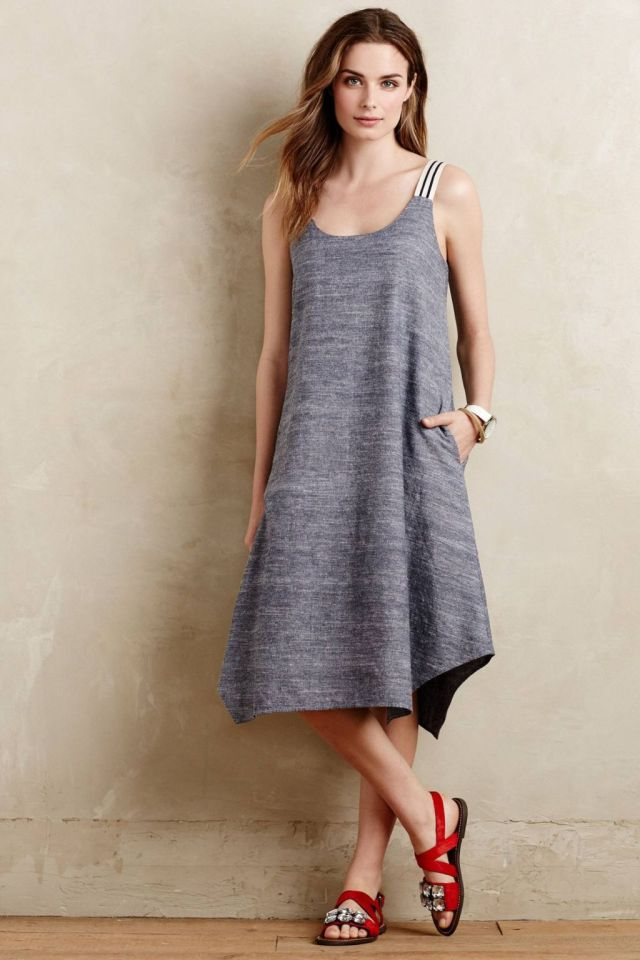 Chambray Trapeze Dress by Isabella Sinclair