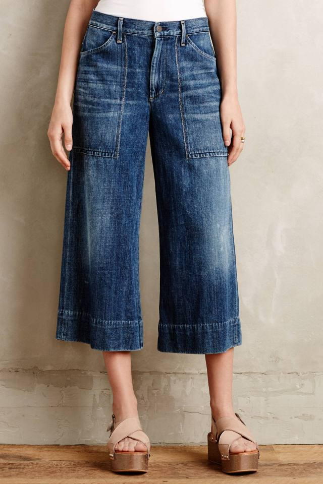 Posie Wide-Leg Crop Jeans by Citizens of Humanity